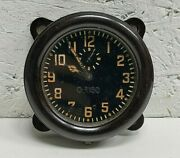 Soviet Military Tank Clock 1941 Original Russian Army Ussr Vintage Wwii Rare Old