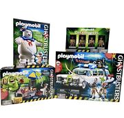 Ghostbusters Playmobil Lot Ecto 1 Stay Puft Action Figures Rare Toy Sale New