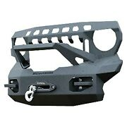 For Jeep Gladiator 20 Front Bumper Stubby Gloss Black Front Winch Hd Bumper W
