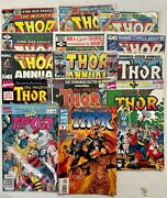 Marvel Comic Lot Mighty Thor See Listing Detail 300-460 + 14 Annuals Bagged