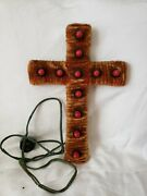 Vintage Christmas Cross Light Up Rare Early Collectible Decoration