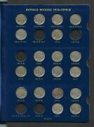 Buffalo Nickel Nearly Complete Set Of 57 Coins Missing 7 Coins1913-1938 Ag-xf