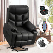 Power Lift Recliner Chair W/ Vibration Massage And Heat For Elderly Living Room