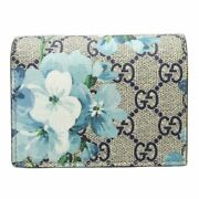 Auth Compact Wallet Bifold 546372 Gg Blooms Pvc Beige/ 080046 Free Ship