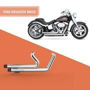 Fdb Ca Stock Muffler Exhaust Pipes Fit For Hd 2006-2011 All Softail Models C2