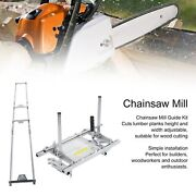 24 30 48 Chainsaw Mill Adjustable Lumber Cutting Rail Mill Guide Woodworking