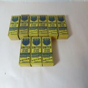 Lot Of 9 Vintage United Products No. 002 Spark Plugs In Original Box
