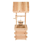 Shine Company Wishing Well 16 In. X 12.5 In. Moisture Resistant Wood Natural