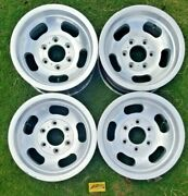 1974-91 Jeep Wagoneer Slotted Mag Wheels Factory Set Of 4