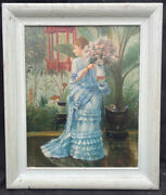 Fine 1950s French Impressionist Oil Painting On Panel Of Girl By Emile Boyer