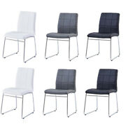 Modern Dining Chairs Set Of 2/4/6/8 Dining Room Kitchen Chairs With Faux Leather