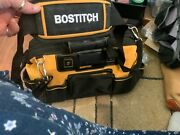 """Bostitch 16"""" Wide Mouth Zip Tool Bag Water-proof Plastic Bottom + Tool Tote"""