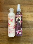 Vintage Avon Naturals Playful Gaiete Pink Daisy And Lemon Body Spray And Lotion 8.4