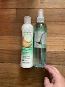 Vintage Avon Naturals Cucumber And Melon Body Spray And Body Lotion 8.4oz Nos