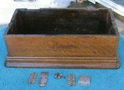 Antique Edison Home Cylinder Phonograph Machine Case With Hardwarestock Part A