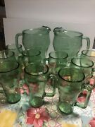 2 Cocacola Pitcher And10glass Mugs Soda With Handles Coke Cowboy Whataburger Promo