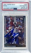 Shaquille O'neal Signed Magic 1992 Topps Gold 362 Rookie Card Psa/dna Auto 10
