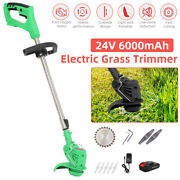 Cordless Garden Mower Portable Electric Lawn Trimmer Grass Cutter Weed Edger 24v