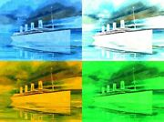 Rms Titanic Limited Edition Pop Art Tree Panel Print 24 X 32 1 Of 10 Made