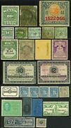 Usa Alcohol Tobacco Vehicle Food Tax Revenue Stamps Collection Used