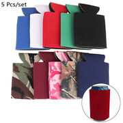 5 Pcs Beer Sleeves Camping Can Cup Soda Cover Neoprene Drink Cooler Porta Q Th7