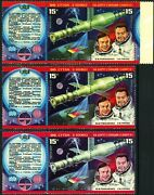 Russia 4664a Space Docking Color Varieties Postage Stamp Label 1978 Mint Nh
