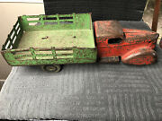 Vtg 1940s Steel Tin Toy All Metal Products Wyandotte Mi Stake Bed Pickup Truck