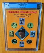 Sports Illustrated 1970 Aaron 2nd Cover Newsstand Cgc 7.5 3000 Hits