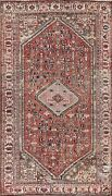 Antique Vegetable Dye Abadeh Hand-knotted Area Rug Geometric Oriental Wool 5and039x8and039