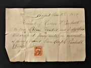 1869 Antique Financial Receipt W Revenue Stamp Concord Ma George H Parchall Jos
