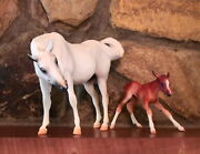 Breyer 2002 Susecion And Le Fire First Release Mare And Newborn Foal  Mint
