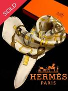 Hermes Petit Carre Eperon Dand039or Scarf From Japan No.4107