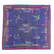 Hermes New Item Mare Aux Canards Duck Pond Silk Gold Thread Sewing No.4037