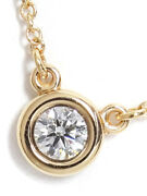 And Co. K18pg Elsa Peretti By The Yard Necklace 1p Diamond Week No.5802
