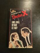 Doctor X, 1932 Horror/mystery, Lionel Atwill, Fay Wray, Lee Tracy, Rare Vhsc1988