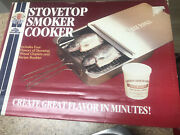 Camerons Gourmet Stainless Steel Stovetop Smoker Heavy Duty Nwob With Wood Chips