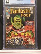Fantastic Four 49 Cgc 3.0 Off White. First Full Galactus. Silver Age Key.
