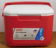 New Coleman 16 Quart Excursion Personal Cooler Red Fits 22 Cans