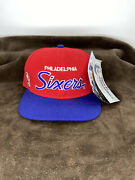New Vintage Philadelphia 76ers Sixers Script Sports Specialties Fitted Hat Cap