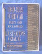1949 - 1959 Ford Car Parts Accessories Test Illustrations Catalog Loose Leaf