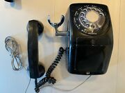Vintage Ae Co. Side Cradle Rotary Dial Black Phone - Works, Free Ship