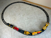 Tested Caterpillar Construction Express Train Set And Track 1992 Toy State Cat