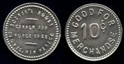 Rockers Roost Cannon Air Force Base Clovis Curry New Mexico Gf 10andcent Trade Token