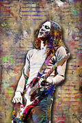 John Frusciante Of Red Hot Chili Peppers 12x18in Poster, Rhcp Free Shipping Us