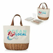 Picnic Time The Little Mermaid Beige Promenade Picnic Basket - New - Tagged