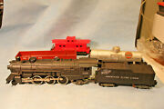 American Flyer 21085 Locomotive And Tender W/ Smoke Three Freight Cars