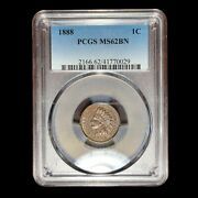 1888 Pcgs Ms-62 Indian Head Cent Penny W9066