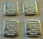 1/4 X 4 Suns Of Liberty .999 Fine Silver Fractional Rounds Squares Total 1 Oz