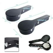 4 String And 5 String Microgroove Pattern Artificial Leather Banjos Case Black