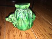 1920s Pottery Pig In A 1000.00 Poke Penny Bank